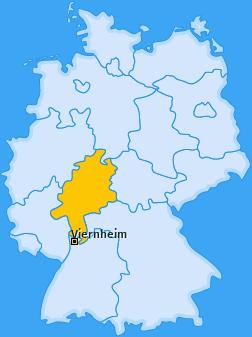 Karte von Viernheim