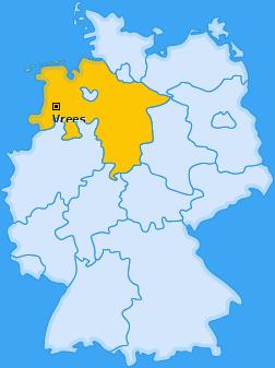 Karte von Vrees