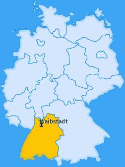 Karte von Waibstadt
