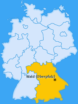 Karte von Wald (Oberpfalz)