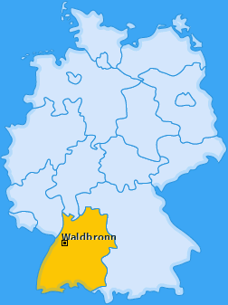 Karte von Waldbronn