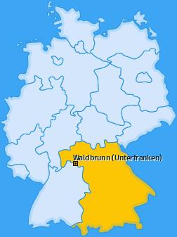 Karte von Waldbrunn (Unterfranken)