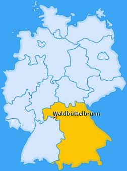 Karte von Waldbüttelbrunn