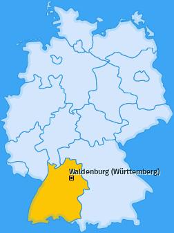 Karte von Waldenburg (Württemberg)