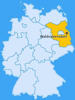 Karte von Waldsieversdorf