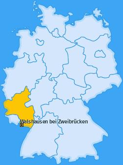 Karte von Walshausen bei Zweibrücken