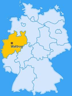 Karte von Waltrop