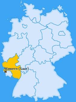 Karte von Wawern (Saar)
