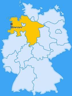 Karte von Weener