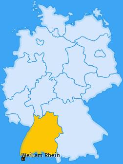 Karte von Weil am Rhein