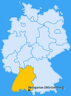 Karte von Weingarten (Württemberg)