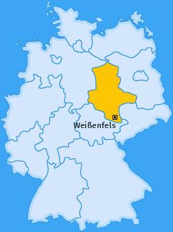 Karte Leißling Weißenfels