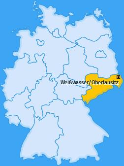 Karte von Weißwasser/Oberlausitz