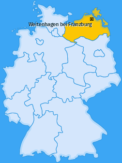 Karte von Weitenhagen bei Franzburg