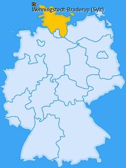 Karte von Wenningstedt-Braderup (Sylt)