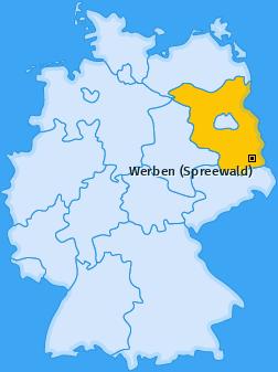 Karte von Werben (Spreewald)