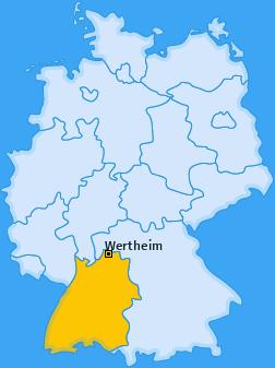 Karte von Wertheim