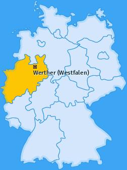 Karte von Werther (Westfalen)
