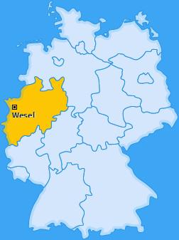 Karte von Wesel