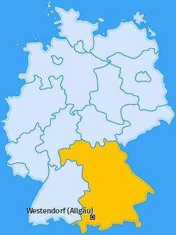 Karte von Westendorf (Allgäu)