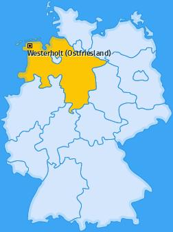 Karte von Westerholt (Ostfriesland)