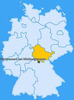 Karte von Westhausen bei Hildburghausen
