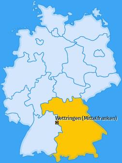 Karte von Wettringen (Mittelfranken)