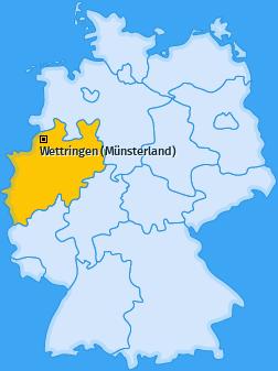 Karte von Wettringen (Münsterland)