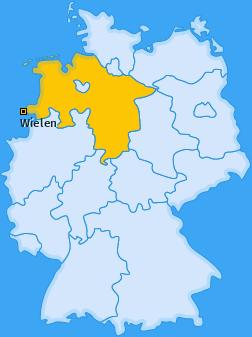 Karte von Wielen