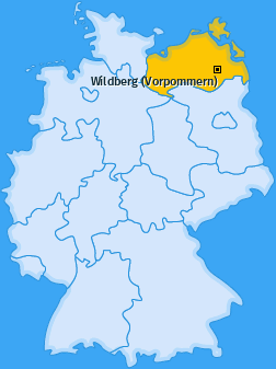 Karte von Wildberg (Vorpommern)