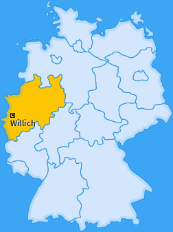 Karte von Willich