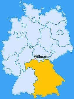 Karte von Willmars