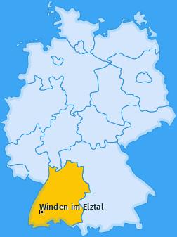 Karte von Winden im Elztal