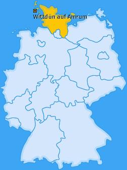 Karte von Wittdün auf Amrum