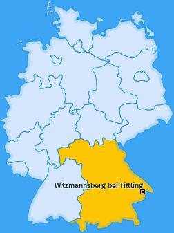 Karte von Witzmannsberg bei Tittling