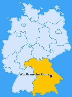 Karte von Wörth an der Donau