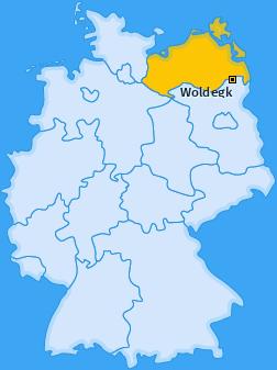 Karte von Petersdorf bei Woldegk