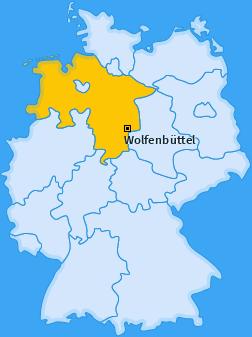 Karte Auguststadt Wolfenbüttel
