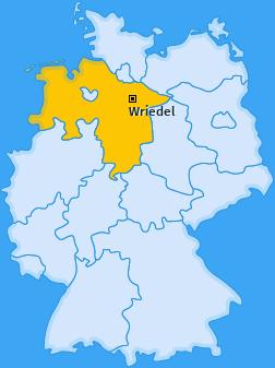 Karte von Wriedel
