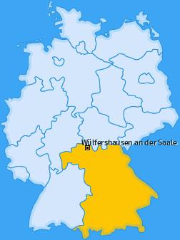 Karte von Wülfershausen an der Saale