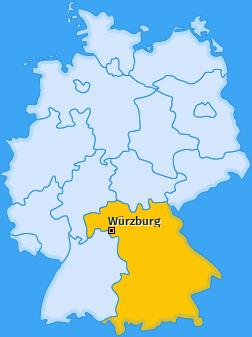 Karte von Würzburg
