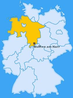 Karte von Wulften am Harz
