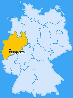 Karte von Wuppertal