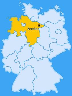 Karte von Zernien
