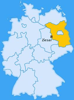Karte von Ziesar