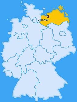 Karte von Zurow