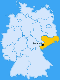 Karte von Zwickau