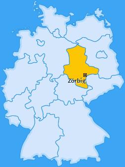 Karte von Zörbig