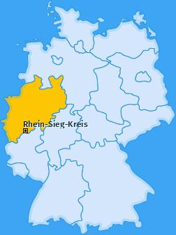 Kreis Rhein-Sieg-Kreis Landkarte