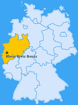 Kreis Rhein-Kreis Neuss Landkarte